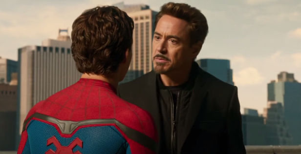 homecoming trailer spidey and stark