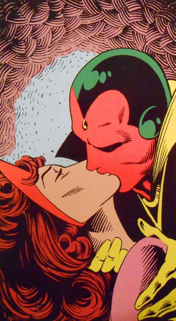 scarlet witch and vision kiss