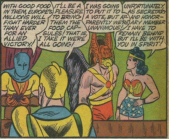 allstar comics wonder woman secretary