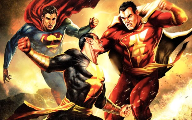 superman black adam and shazam
