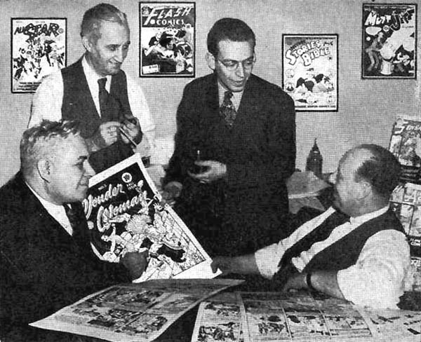 william marston and hg peter in dc comics offcie