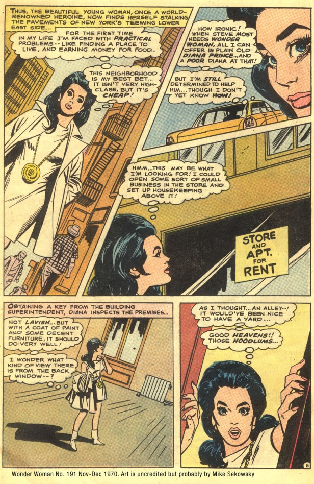 wonder-woman 191 inside by mike sekowsky 1970