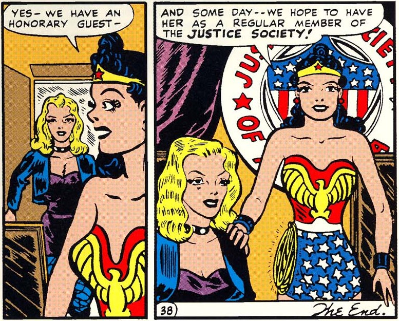 wonder-woman and black canary in JLA comics