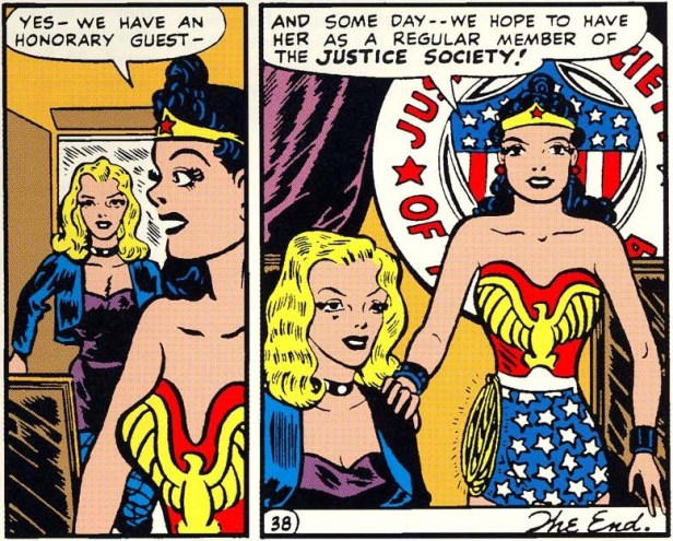 wonder-woman and black canary in JLA comics