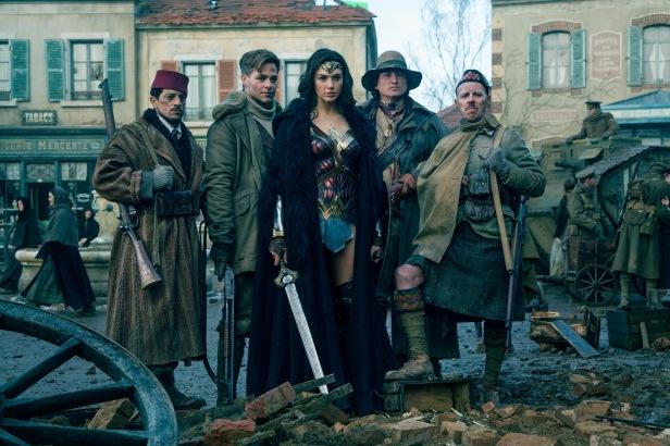 wonder woman movie the war team