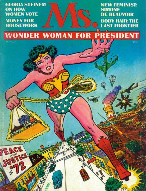 wonder woman ms cover president