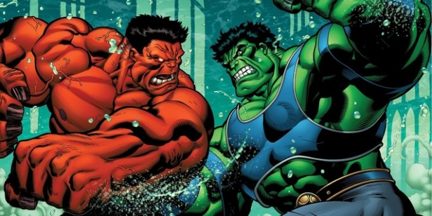 Hulk vs red hulk by ed mcguiness