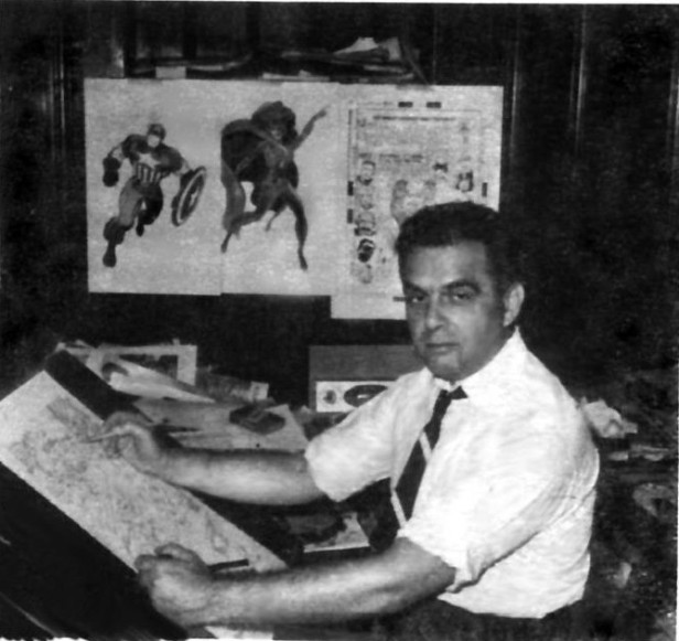 jack kirby drawining in the 60s