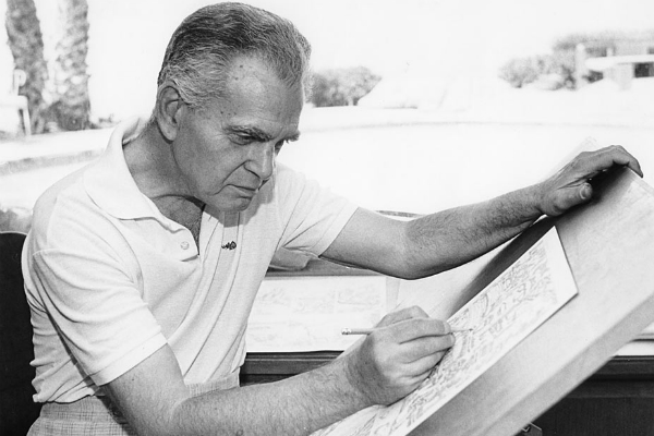 jack kirby drawining in the 80s