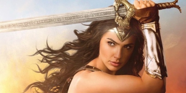 wonder-woman banner with sword
