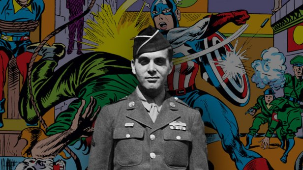 jack kirby army with cap behind