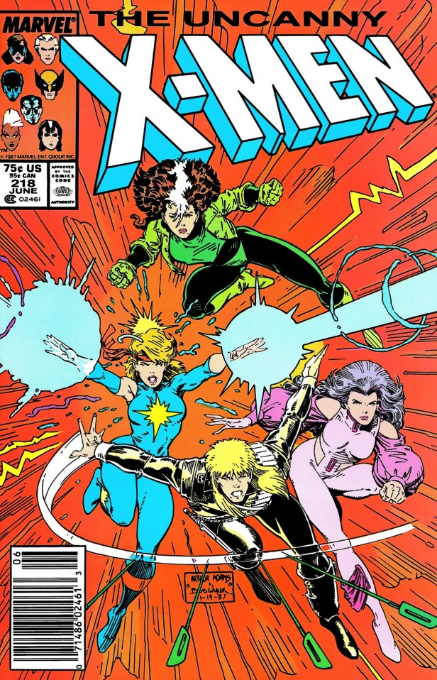 uncanny x-men 218 cover