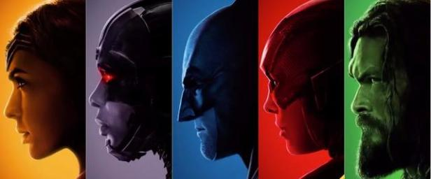 justiceleague banner faces posters