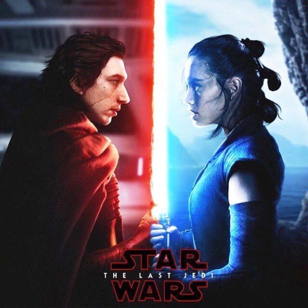star wars the last jedi poster rey vs kylo ren