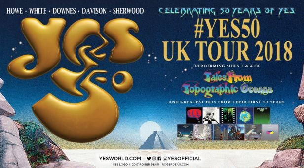 yes 50th celebration tour poster