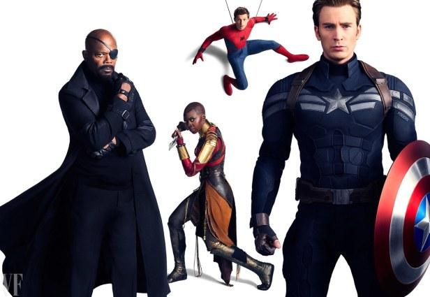 avengers infinity war vanity fair fury okoye spider cap