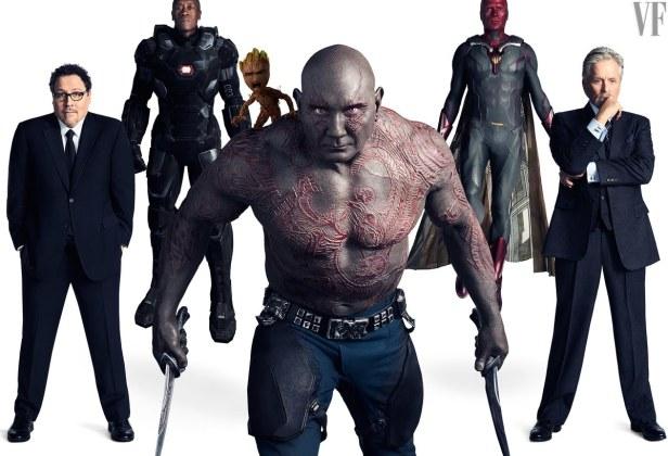 avengers infinity war vanity fair happy warmachine groot drax vision hank pym