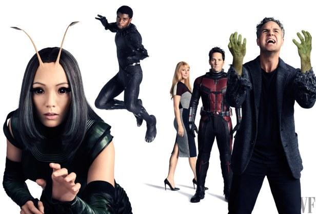 avengers infinity war vanity fair mantis panther potts antman banner