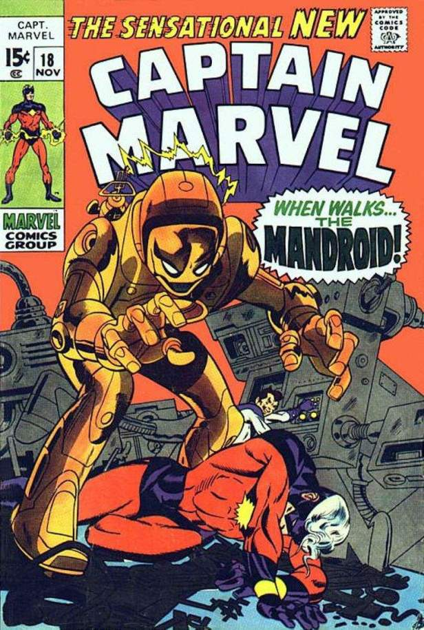 captain marvel 18 cover 1969