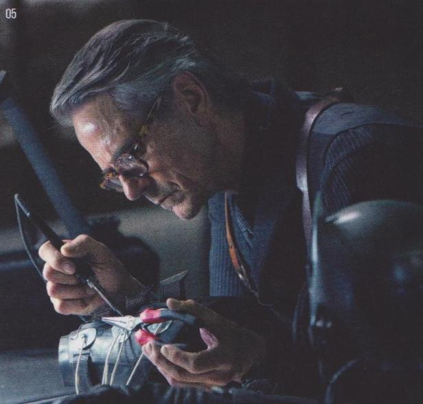 justice league movie magazine alfred working