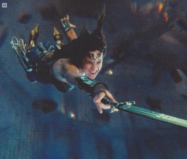 justice league movie magazine wonder woman in action