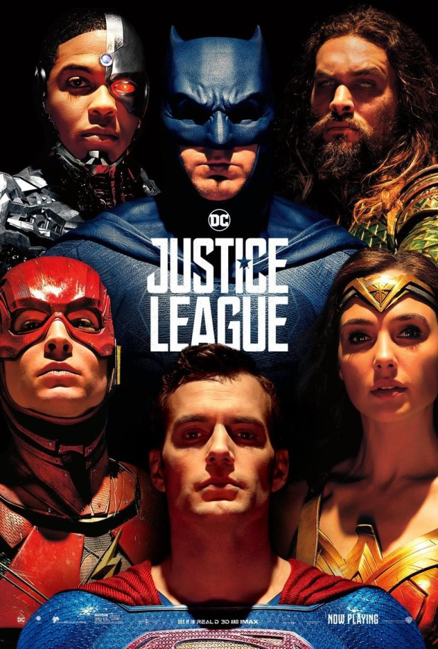 justice league movie poster with superman