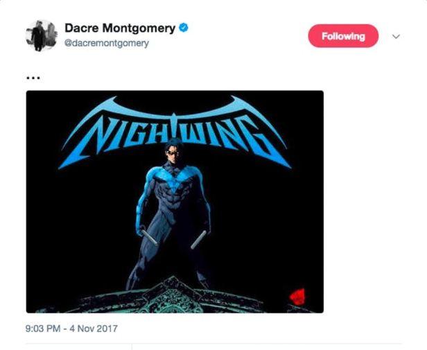 nightwing dacre montgomery twiter