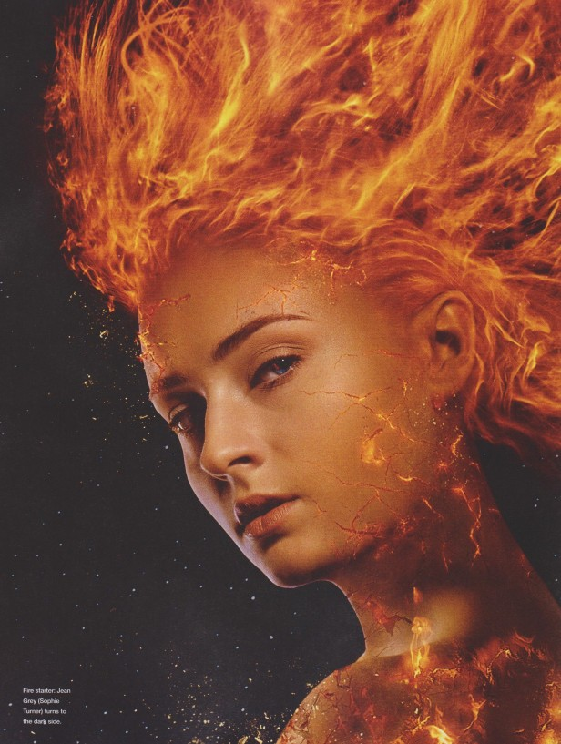 dark phoenix jean grey on fire empire poster