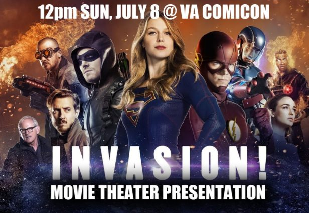 dc comics Invasion tv crossover