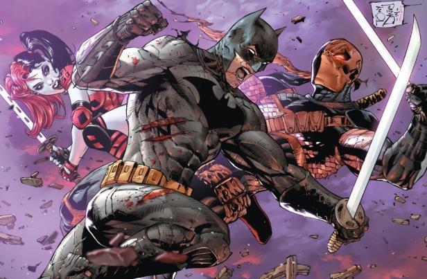 batman vs deathstroke by tony daniel