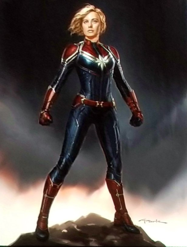 captain marvel promo art uniform