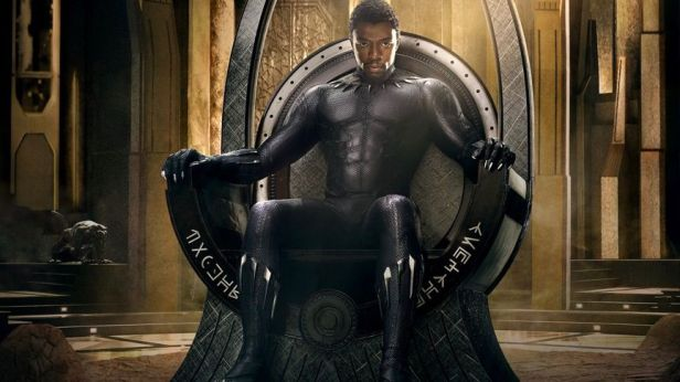 black panther tchalla on the throne
