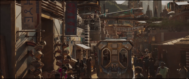 black panther trailer screenshot wakanda streets
