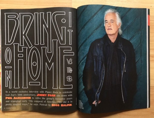 led zeppelin jimmy page on planet rock magazine 2018