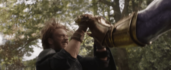 Infinity War Trailer 2 cap and the thanos hand 2