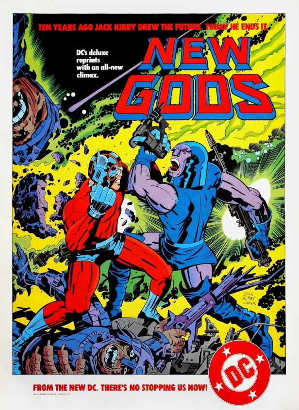 New Gods poster (for reprint mini-series)