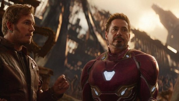 infinity war star lord and iron man