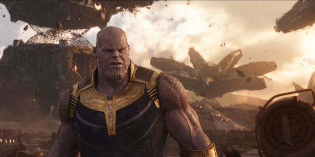 infinity war thanos in titan