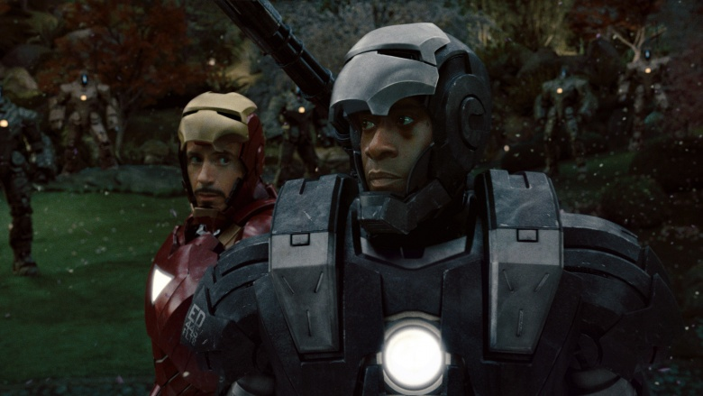 iron man 2 stark and war machine battle final