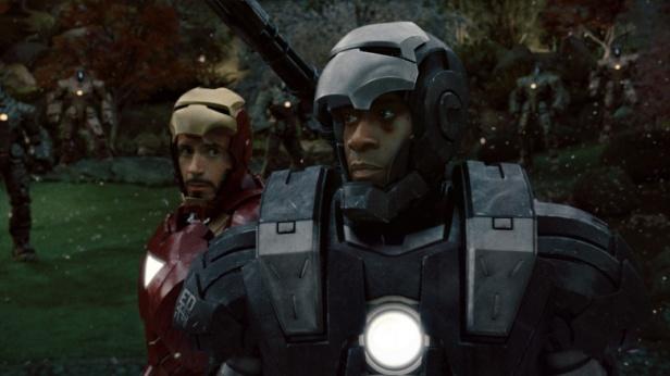 iron man 2 stark and war machine battle final