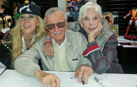 Stan Lee, Joan Lee and JC Lee