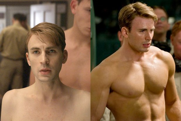 the fisrt avenger steve before and after supersoldier sorum