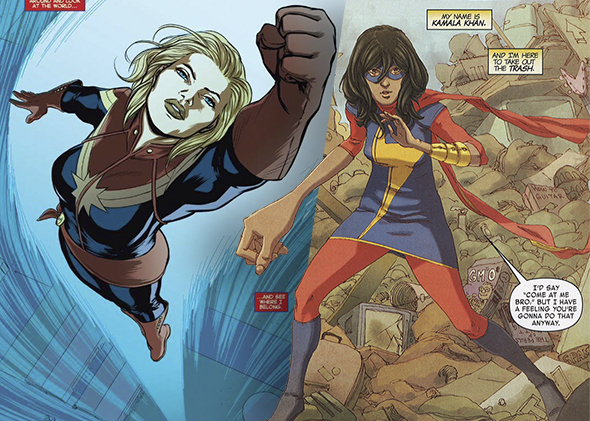captain marvel and miss marvel kamala khan