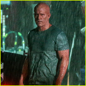 deadpool unmasked rain scene