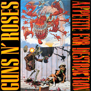 GunsnRoses Appetite for Destruction original album cover 1987