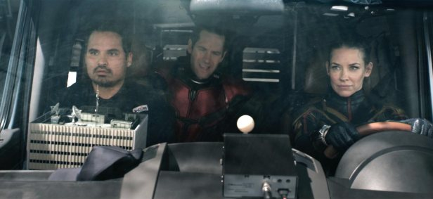 ant-man-and-the-wasp in the van with luis