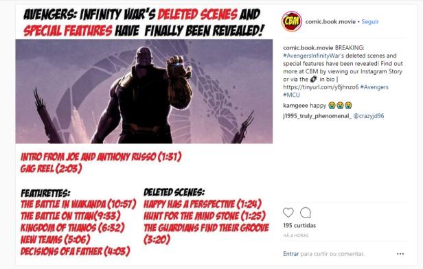 infinity-war bluray featurettes