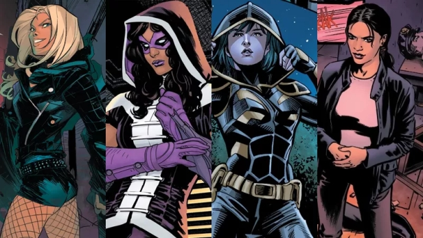 birds of prey black canary huntress cassandra cain rene montoya