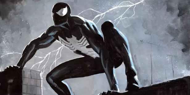 Spider-Man-Peter-Parker-Venom-black-costume-alien-symbiote
