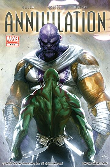 anihilation cover thanos and drax